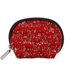 Glossy Abstract Red Accessory Pouches (Small)
