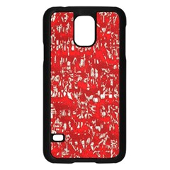Glossy Abstract Red Samsung Galaxy S5 Case (Black)