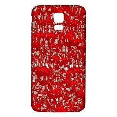 Glossy Abstract Red Samsung Galaxy S5 Back Case (White)