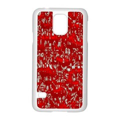 Glossy Abstract Red Samsung Galaxy S5 Case (White)