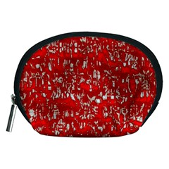 Glossy Abstract Red Accessory Pouches (Medium)