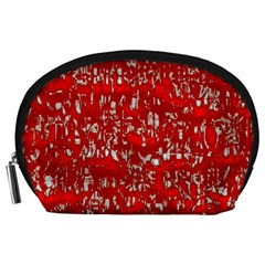 Glossy Abstract Red Accessory Pouches (Large)