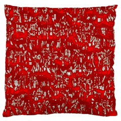 Glossy Abstract Red Large Flano Cushion Case (One Side)
