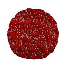 Glossy Abstract Red Standard 15  Premium Flano Round Cushions