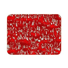 Glossy Abstract Red Double Sided Flano Blanket (Mini)