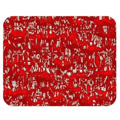 Glossy Abstract Red Double Sided Flano Blanket (Medium)