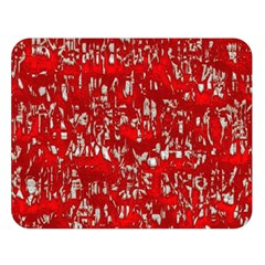 Glossy Abstract Red Double Sided Flano Blanket (Large)