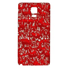 Glossy Abstract Red Galaxy Note 4 Back Case