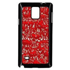 Glossy Abstract Red Samsung Galaxy Note 4 Case (Black)