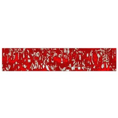 Glossy Abstract Red Flano Scarf (Small)