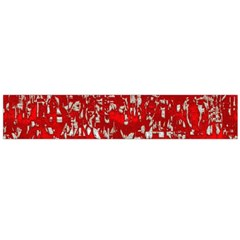Glossy Abstract Red Flano Scarf (Large)