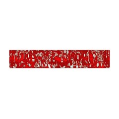Glossy Abstract Red Flano Scarf (Mini)