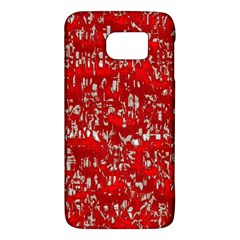 Glossy Abstract Red Galaxy S6