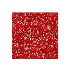 Glossy Abstract Red Satin Bandana Scarf