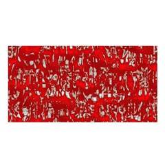 Glossy Abstract Red Satin Shawl