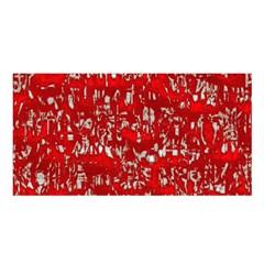 Glossy Abstract Red Satin Shawl
