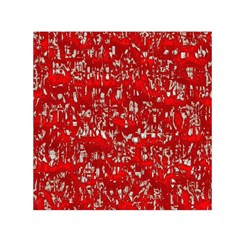 Glossy Abstract Red Small Satin Scarf (Square)