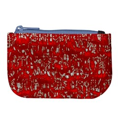 Glossy Abstract Red Large Coin Purse