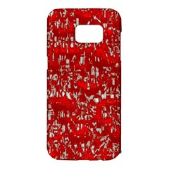 Glossy Abstract Red Samsung Galaxy S7 Edge Hardshell Case