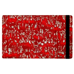 Glossy Abstract Red Apple iPad Pro 9.7   Flip Case