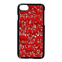 Glossy Abstract Red Apple iPhone 7 Seamless Case (Black)