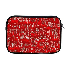 Glossy Abstract Red Apple MacBook Pro 17  Zipper Case