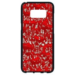 Glossy Abstract Red Samsung Galaxy S8 Black Seamless Case