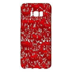 Glossy Abstract Red Samsung Galaxy S8 Plus Hardshell Case