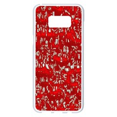 Glossy Abstract Red Samsung Galaxy S8 Plus White Seamless Case