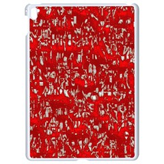 Glossy Abstract Red Apple iPad Pro 9.7   White Seamless Case
