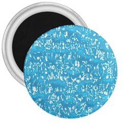 Glossy Abstract Ocean 3  Magnets