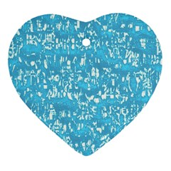 Glossy Abstract Ocean Ornament (Heart)