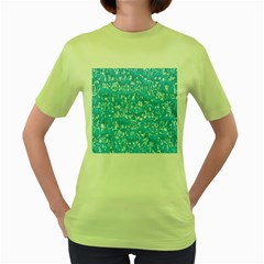 Glossy Abstract Ocean Women s Green T-Shirt