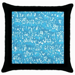 Glossy Abstract Ocean Throw Pillow Case (Black)