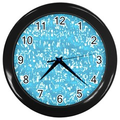 Glossy Abstract Ocean Wall Clocks (Black)