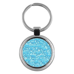 Glossy Abstract Ocean Key Chains (Round)
