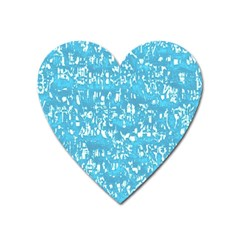 Glossy Abstract Ocean Heart Magnet