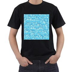 Glossy Abstract Ocean Men s T-Shirt (Black) (Two Sided)