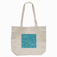 Glossy Abstract Ocean Tote Bag (Cream)