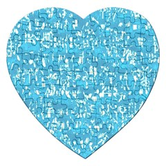 Glossy Abstract Ocean Jigsaw Puzzle (Heart)