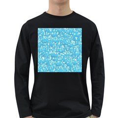 Glossy Abstract Ocean Long Sleeve Dark T-Shirts