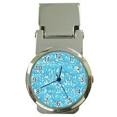 Glossy Abstract Ocean Money Clip Watches