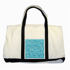 Glossy Abstract Ocean Two Tone Tote Bag