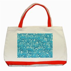 Glossy Abstract Ocean Classic Tote Bag (Red)