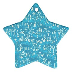 Glossy Abstract Ocean Star Ornament (Two Sides)