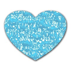 Glossy Abstract Ocean Heart Mousepads