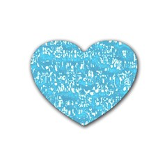 Glossy Abstract Ocean Rubber Coaster (Heart)