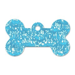 Glossy Abstract Ocean Dog Tag Bone (Two Sides)