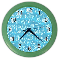 Glossy Abstract Ocean Color Wall Clocks