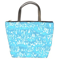 Glossy Abstract Ocean Bucket Bags